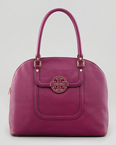 Tory Burch Amanda Dome Satchel – Fuchsia