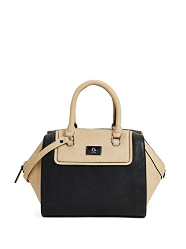 G by GUESS Women's Nickel Color-Block Box Satchel