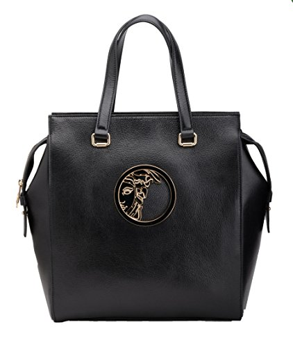 Versace Collection Women's Fashion Black Leather Handbag LBFS426-LCL