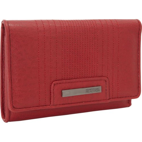 Kenneth Cole Reaction Wallets Never Let Go Flap Indexer (Red)