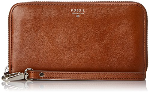 Fossil Sydney Zip Phone Wallet, Brown, One Size