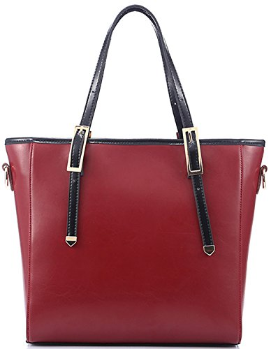 Heshe® New Fashion Women's Leather Top-handle Tote Shoulder Bag Cross Body Handbag