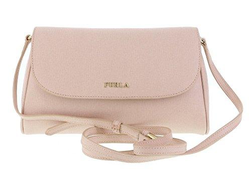 Furla Lilli Saffiano Leather Cross Body / Shoulder Bag in Magnolia (030)