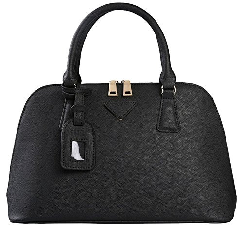Heshe® Women's New Fashion Leather Tote Handle Bag Top Handbag Shoulder Bag Cross-body Handbag Personality Charm Simple Style for Ladies