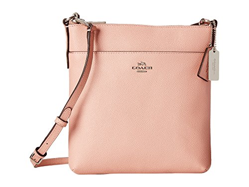 COACH Women's Embossed Textured Leather North/South Swingpack SV/Blush Cross Body