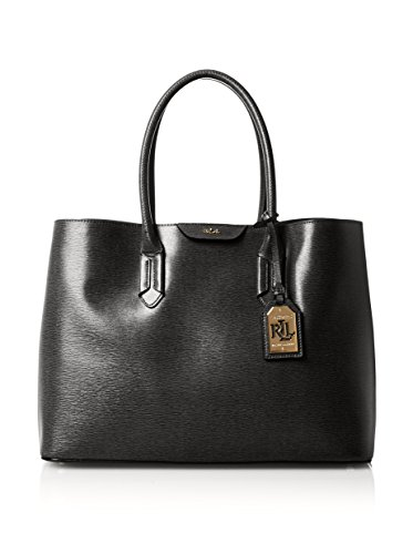 LAUREN Ralph Lauren Women's Tate City Tote, Black/Black, One Size