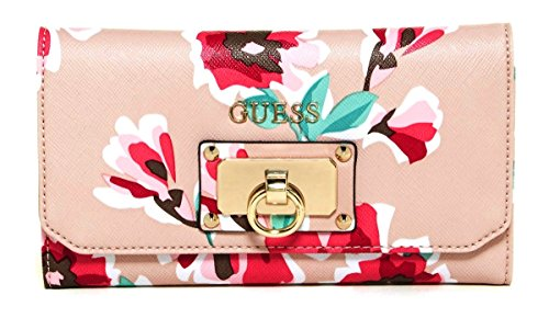 GUESS Women's Forget me not Wallet Clutch Bag (Pink Rose Multi)