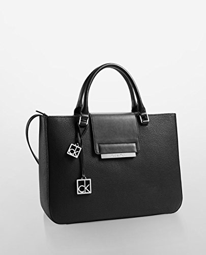 Calvin Klein White Label Valerie Triple Compartment Tote (Black)