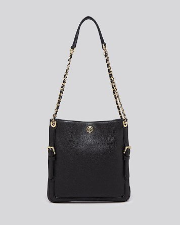 Tory Burch Bloomingdale's Swingpack Bag Black New