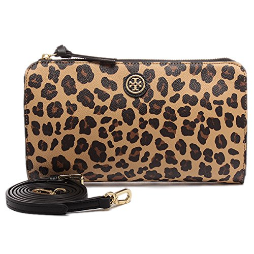 Tory Burch Kerrington Wallet Cross-body in Ocelot Leopard