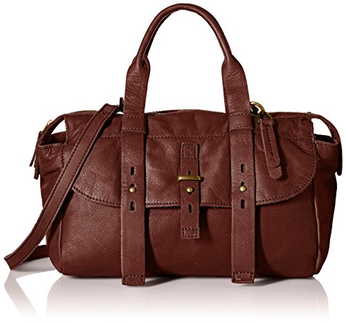 Lucky Brand Medine Xbody Satchel Bag, Brandy, One Size