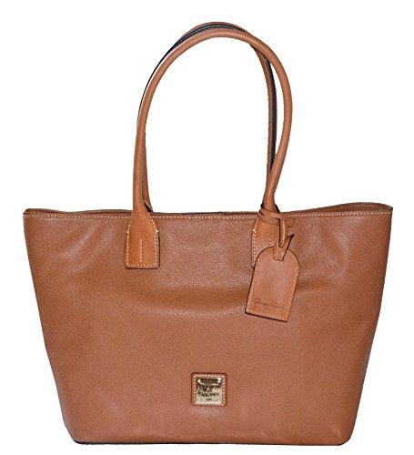 Dooney & Bourke Small Shopper Tote Bag Handbag Purse Caramel