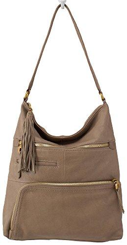 Hobo Handbags Supersoft Leather Flint Shoulder Bag – Mushroom