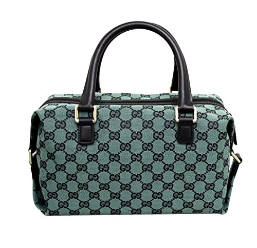 Gucci Canvas Green Joy Boston Handbag Bag 272375