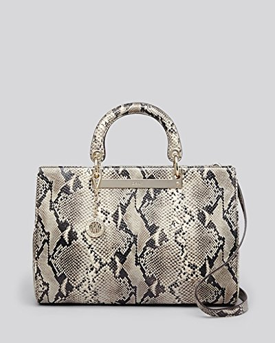 Dkny Bryant Park Python Embossed Shopper Leather Bag New