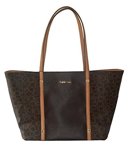 Calvin Klein Purse Signature Canvas Tote Handbag Bag For Women
