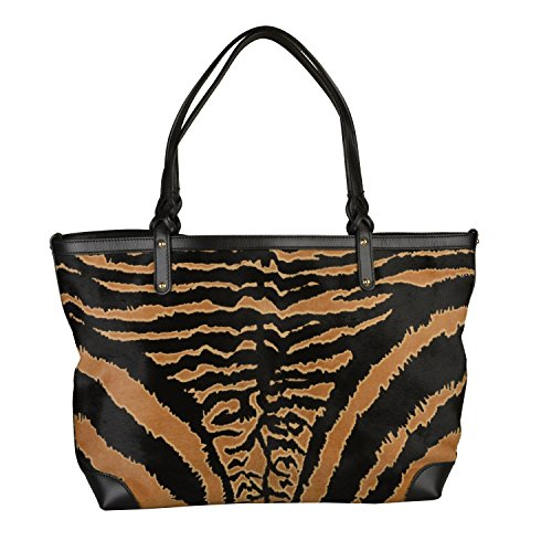 Gucci Women's Animal Print Pony Hair Leather Tote Handbag Shoulder Bag