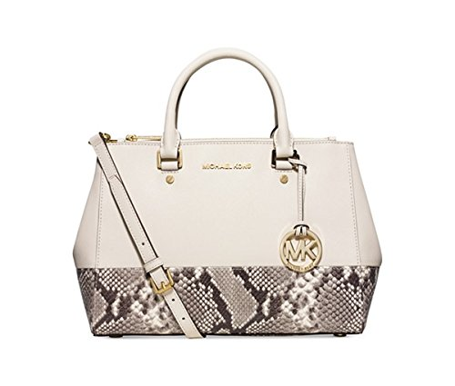 MICHAEL Michael Kors Sutton Medium Satchel-Ecru Natural
