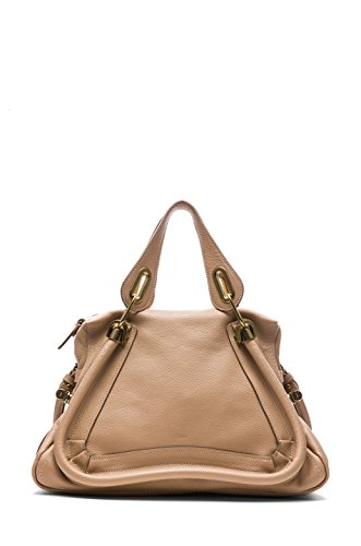 Chloe Paraty Medium Double Satchel Carry Bag – Beige