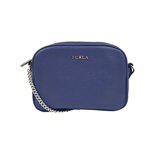 Furla Pebbled Leather MIKY Mini Cross Body Shoulder Bag (Navy 026)