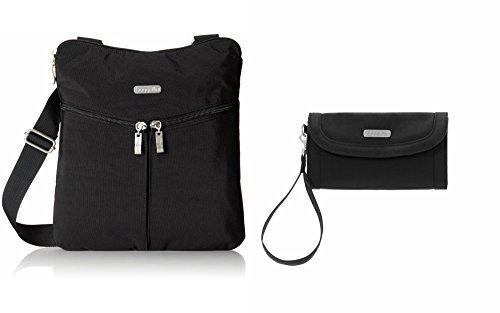 Baggallini Horizon Crossbody Bag, Black with FREE Baggallini Lafeyette Wallet Black/Sand