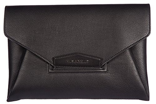 Givenchy women's leather clutch handbag bag purse envelope antigona black
