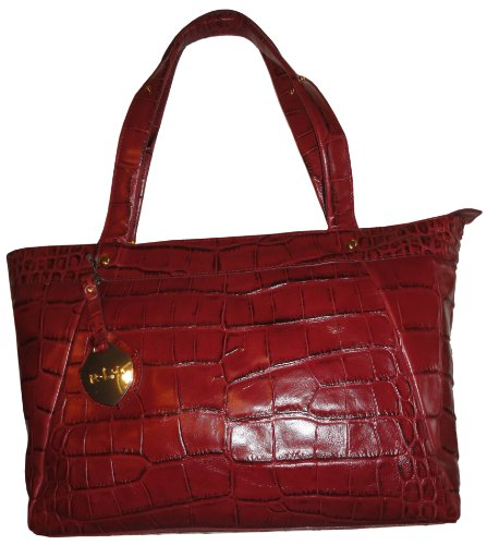 Women's Ralph Lauren Purse Handbag Rafferty Shopper Garnet Red
