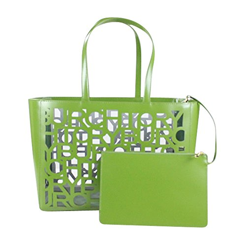 Tory Burch TB Cut-Out Small Tote Leaf Green