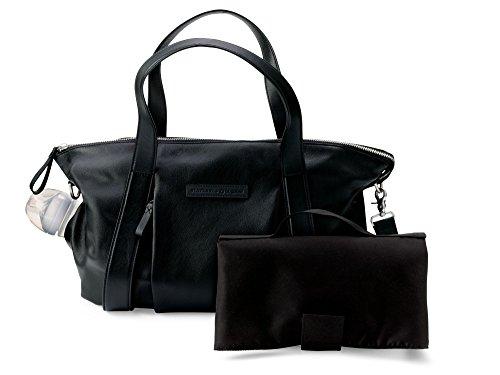 Bugaboo Storksak Leather Diaper Bag, Black