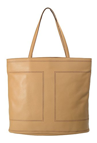 Isaac Mizrahi Kay Double Perf Tote Handbag Shopper Top Handle Bag