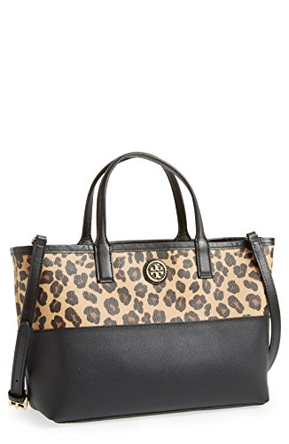 Tory Burch Kerrington Cross-body Shopper in Ocelot & Black