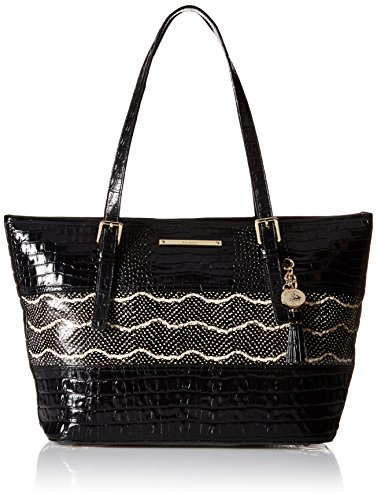 Brahmin Medium Asher Tote Bag, Black, One Size