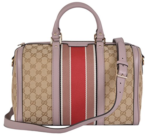 Gucci Women's Original GG Guccissima Canvas Web Stripe Boston Convertible Handbag