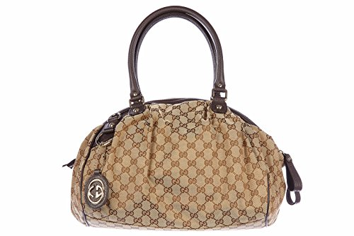 Gucci women's shoulder bag original logo brown