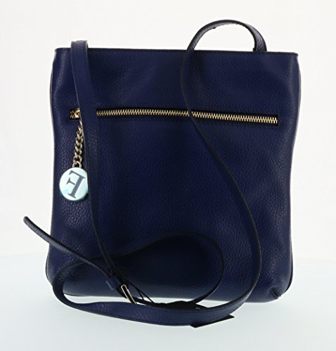 Furla Julia Pebbled Leather Cross Body Shoulder Bag (Navy 026)