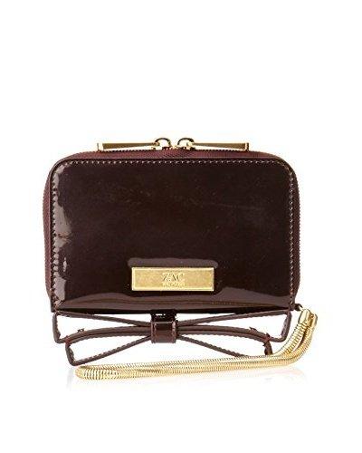 Zac Posen Milla Vineyard Burgundy Patent Bow Wristlet