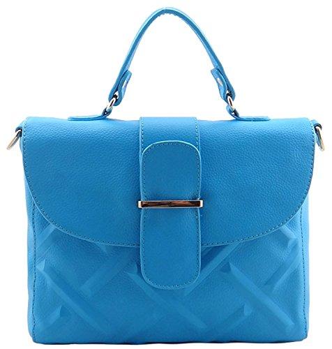 Heshe Leather Lichee Pattern Bag Tote Cross Body Shoulder Handbag for Women