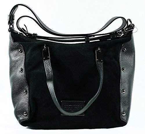 Marc Jacobs Ligero Suede Ninja Satchel in Black