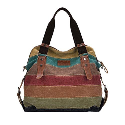 Nasis rainbow design lady bag hand bag shopper tote AL4006