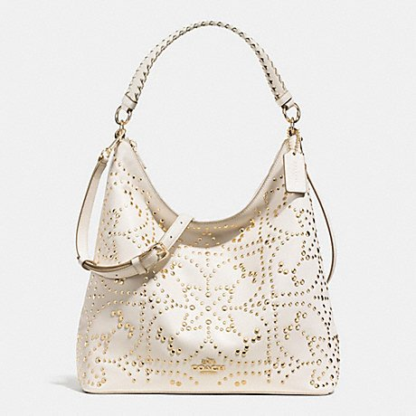 Coach Celeste Convertible Mini Studded Leather Shoulder Bag Hobo F35203
