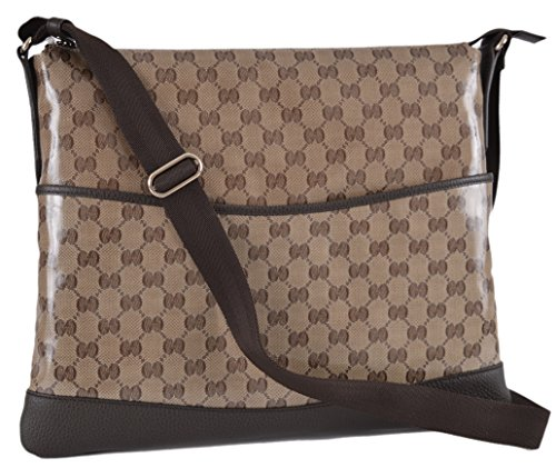 Gucci Crystal Coated Canvas and Leather GG Guccissima Messenger Bag