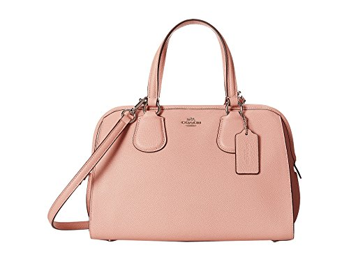 COACH Women's Crossgrain Leather Nolita Satchel SV/Blush Satchel