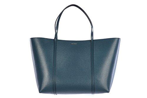 DOLCE&GABBANA women's leather shoulder bag original calfskin blu