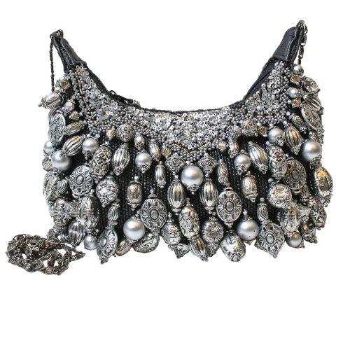 Mary Frances Silverado Silver Mini Handbag