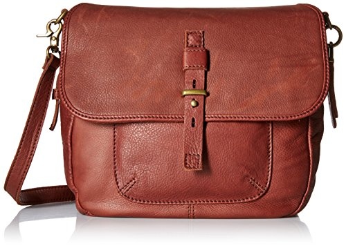 Lucky Brand Medine Conv Messenger Bag, Brandy, One Size