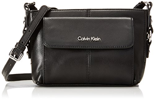 Calvin Klein Calvin Klein Pebble Organizational Cross Body Bag, Black/Silver, One Size