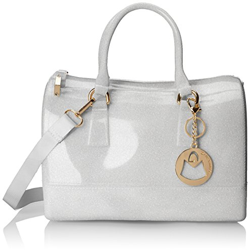 MG Collection Hannah Doctors Top Handle Candy Handbag, Silver, One Size