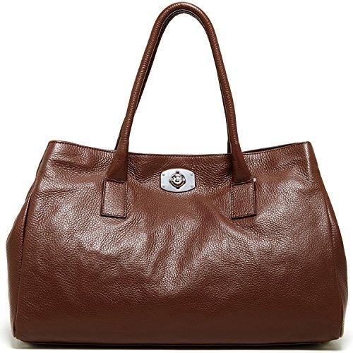 Furla New Appaloosa Saffiano Leather Tote Bag, Chocolate