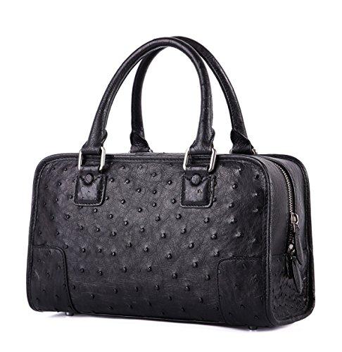 GAVADI Ostrich Leather Clutch Bag for Women or Men S01118