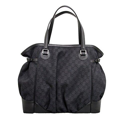 Gucci Canvas Black Full Moon Tote Large Handbag 257290 1160